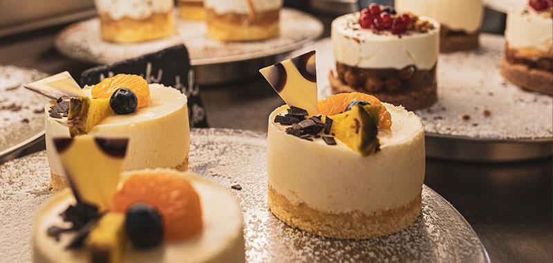 Kuchen und Torten im Cafe Samocca